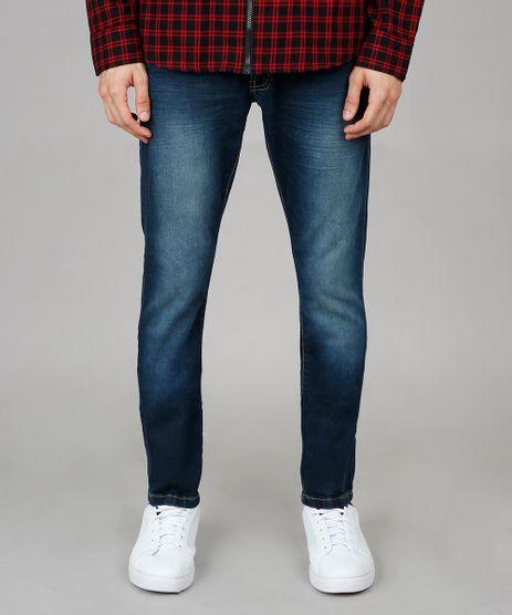 Calca-Jeans-Masculina-Slim-com-Bolsos-Azul-Escuro-9595654-Azul_Escuro_1