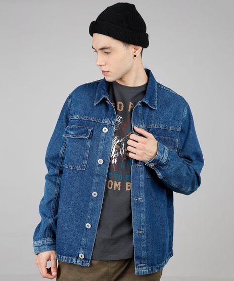 Camisa-Jeans-Masculina-com-Bolsos-Manga-Longa-Azul-Medio-9588235-Azul_Medio_1