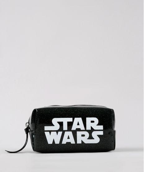 Necessaire-Feminina-Star-Wars-com-Glitter-Preta-9661610-Preto_1