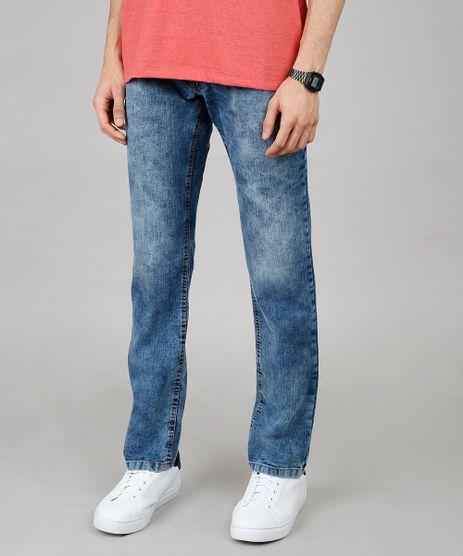 Calca-Jeans-Masculina-Reta-com-Bolsos-Azul-Medio-9647539-Azul_Medio_1