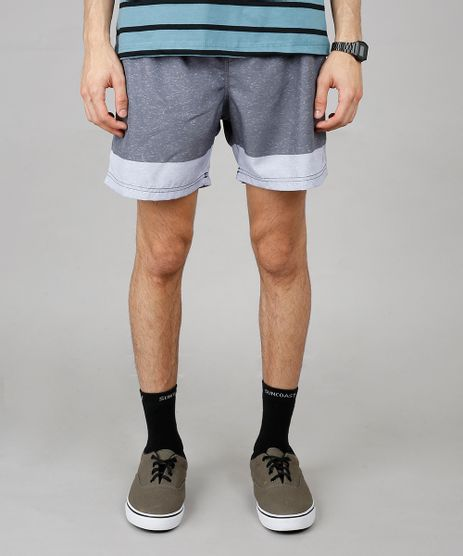 Short-Masculino-Listrado-com-Bolsos-Cinza-Mescla-Escuro-9600665-Cinza_Mescla_Escuro_1