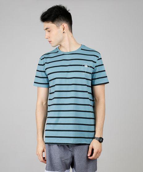 Camiseta-Masculina-Listrada-Manga-Curta-Gola-Careca-Verde-9620552-Verde_1