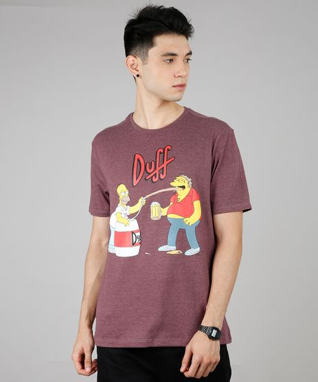 Camiseta-Masculina-Duff-Os-Simpsons-Manga-Curta-Gola-Careca-Vinho-9687496-Vinho_1