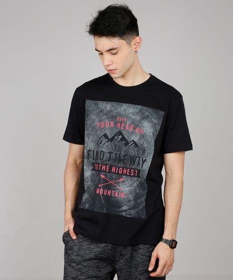 Camiseta-Masculina--Mountain--Manga-Curta-Gola-Careca-Preta-9607299-Preto_1