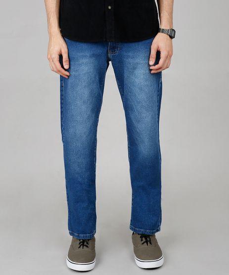 Calca-Jeans-Masculina-Reta-com-Bolsos-Azul-Medio-9647540-Azul_Medio_1