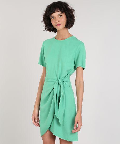 Vestido-Feminino-Mindset-Curto-com-Transpasse-Manga-Curta-Verde-9687368-Verde_1