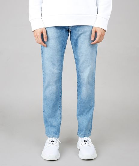 Calca-Jeans-Masculina-Reta-com-Rasgos-Azul-Claro-9647541-Azul_Claro_1