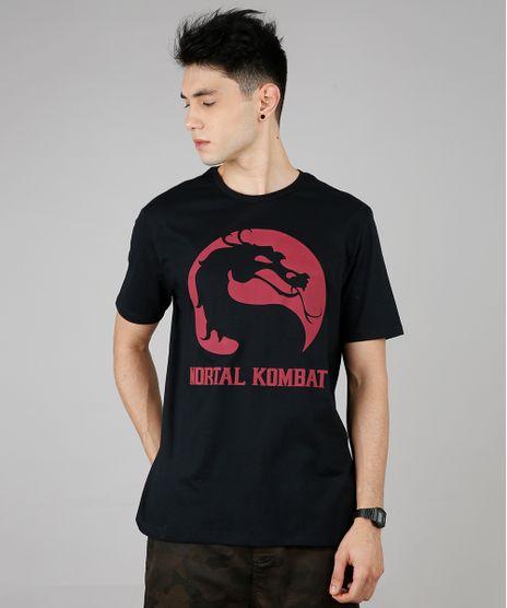 Camiseta-Masculina-Mortal-Kombat-Manga-Curta-Gola-Careca-Preta-9687489-Preto_1