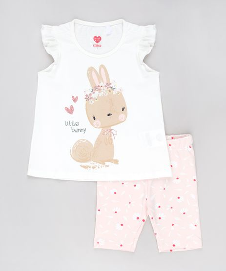 Conjunto-Infantil-de-Regata--Little-Bunny--com-Babado-Off-White---Bermuda-Estampada-Floral-Rosa-Claro-9628100-Rosa_Claro_1