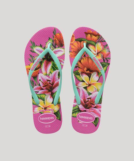 Chinelo-Feminino-Havaianas-Slim-Estampado-Floral-Verde-9644436-Verde_1