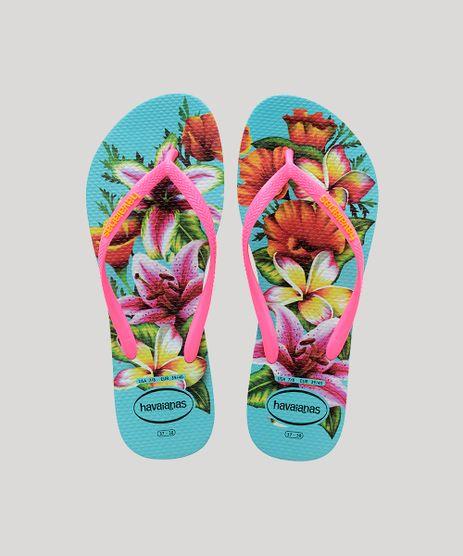 Chinelo-Feminino-Havaianas-Slim-Estampado-Floral-Rosa-9644435-Rosa_1