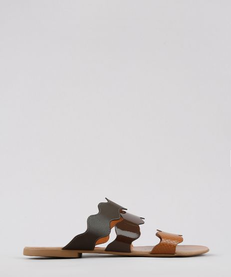Rasteira-Feminina-Oneself-com-Tira-Animal-Print-Marrom-9655692-Marrom_1