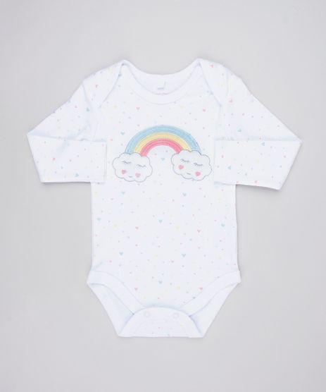 Body-Infantil-Arco-Iris-Estampado-com-Coracoes-Manga-Longa-Decote-Redondo-Branco-9445922-Branco_1