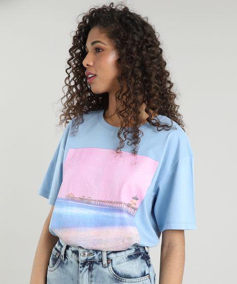 T-Shirt-Feminina-Mindset--Every-Moment--Manga-Curta-Decote-Redondo-Azul-Claro-9711627-Azul_Claro_1