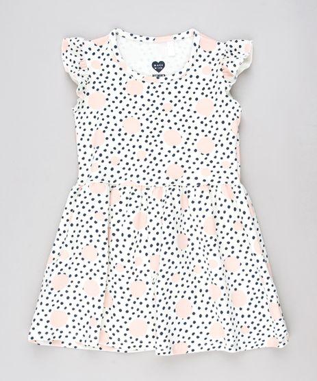 Vestido-Infantil-Estampado-de-Poa-com-Babado-Sem-Manga-Off-White-9628097-Off_White_1
