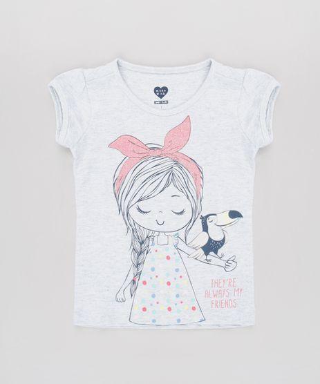 Blusa-Infantil-Menina-com-Tucano-e-Brilho-Manga-Curta-Cinza-Mescla-Claro-9631450-Cinza_Mescla_Claro_1