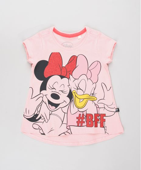 Blusa-Infantil-Minnie-e-Margarida-com-Brilho-Manga-Curta-Rosa-9632320-Rosa_1