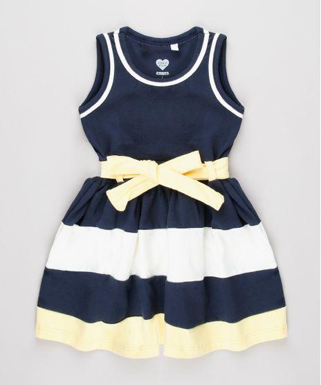 Vestido-Infantil-com-Recortes-e-Laco-Sem-Manga-Amarelo-9653833-Amarelo_1