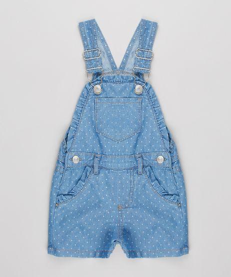 Jardineira-Jeans-Infantil-Estampado-Poa-Com-Bolso-Azul-9638384-Azul_1