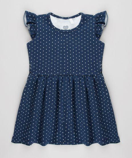 Vestido-Infantil-Estampado-de-Poa-com-Babado-Sem-Manga-Azul-Marinho-9683503-Azul_Marinho_1