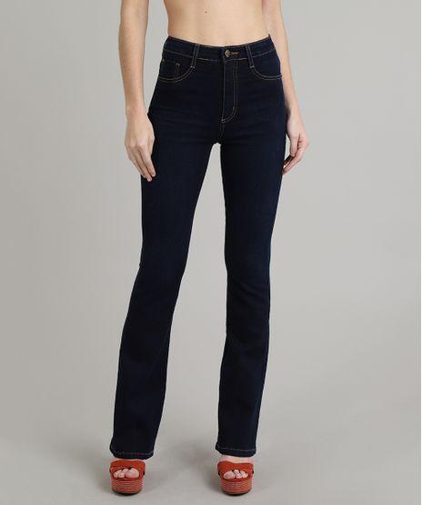 Calca-Jeans-Feminina-Sawary-Super-Lipo-Flare-Azul-Escuro-9671806-Azul_Escuro_1