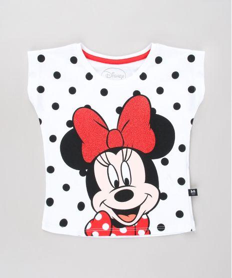 Blusa-Infantil-Minnie-com-Poa-e-Brilho-Manga-Curta-Off-White-9632328-Off_White_1