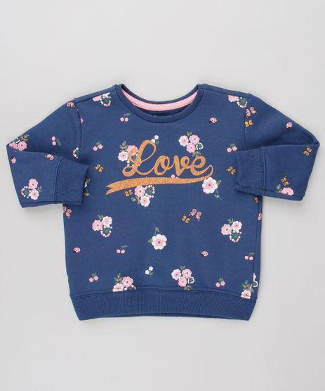 Blusao-Infantil-em-Moletom-Estampado-Floral--Love---Azul-Marinho-9623065-Azul_Marinho_1