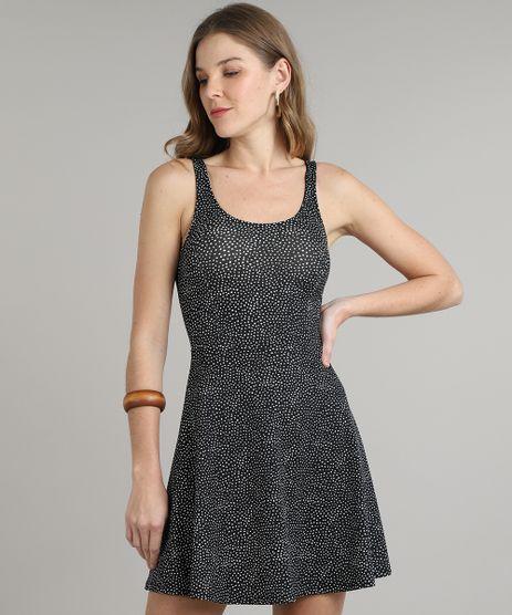 Vestido-Feminino-Curto-Estampado-Poa-Alca-Larga-Preto-9626793-Preto_1
