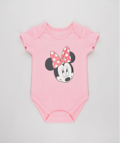 c95cc2807f55 Body-Infantil-Minnie-Estampado-Manga-Curta-Rosa-9584488- ...