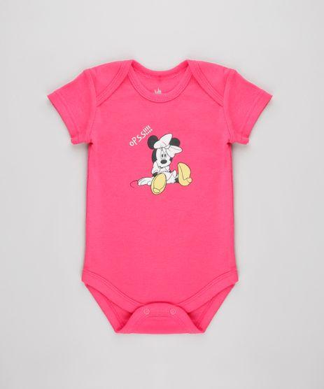 Body-Infantil-Minnie-Estampado-Manga-Curta-Rosa-Escuro-9448763-Rosa_Escuro_1