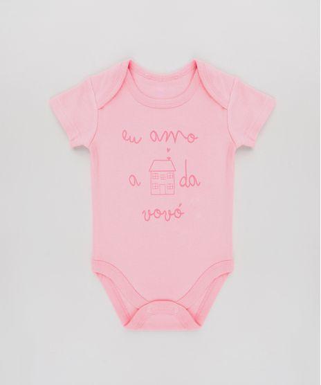 Body-Infantil--Eu-Amo-a-Casa-da-Vovo--Manga-Curta-Rosa-9584492-Rosa_1