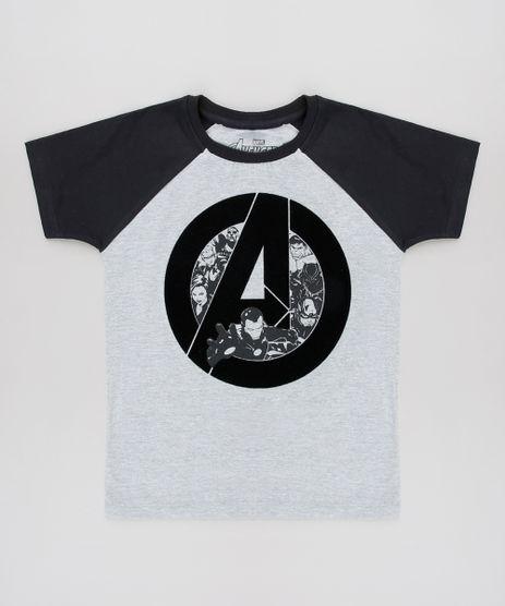 Camiseta-Infantil-Os-Vingadores-Raglan-Manga-Curta--Cinza-Mescla-Claro-9625482-Cinza_Mescla_Claro_1