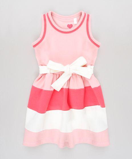 Vestido-Infantil-com-Recortes-e-Laco-Sem-Manga-Rosa-9653835-Rosa_1