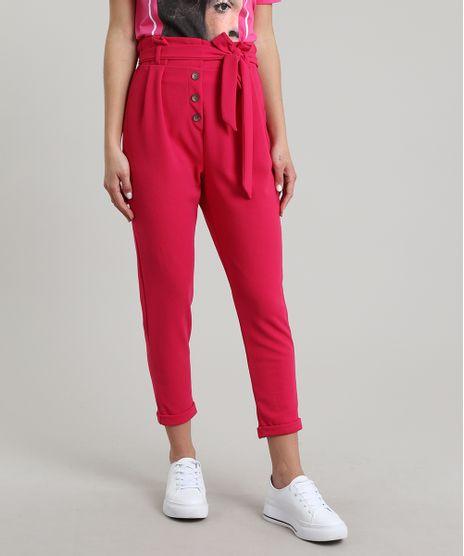 Calca-Feminina-Carrot-Clochard-com-Botoes-e-Faixa-para-Amarrar-Pink-9663752-Pink_1