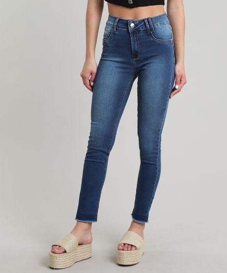 Calca-Jeans-Feminina-Sawary-Cigarrete-Barra-Desfiada-Azul-Medio-9671802-Azul_Medio_1