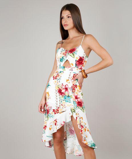 Vestido-Feminino-Midi-Estampado-Floral-com-Babado-Alcas-Finas-Decote-V--Off-White-9533116-Off_White_1