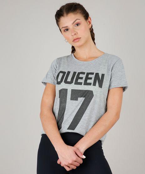 Blusa-Feminina-Esportiva-Ace--Queen-17--Manga-Curta-Decote-Redondo-Cinza-Mescla-Claro-9596223-Cinza_Mescla_Claro_1