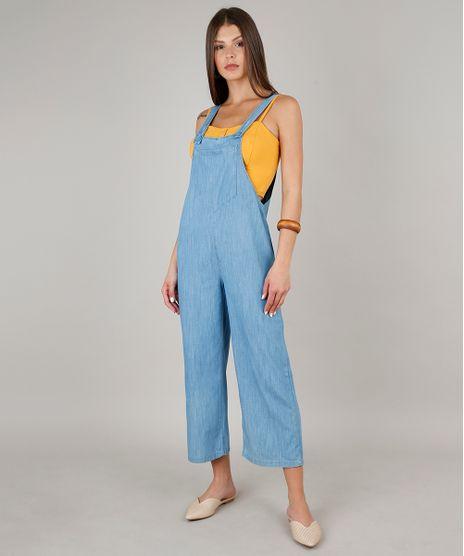 Macacao-Jeans-Feminino-Amplo-com-Bolso-Alcas-Largas--Azul-Claro-9654601-Azul_Claro_1
