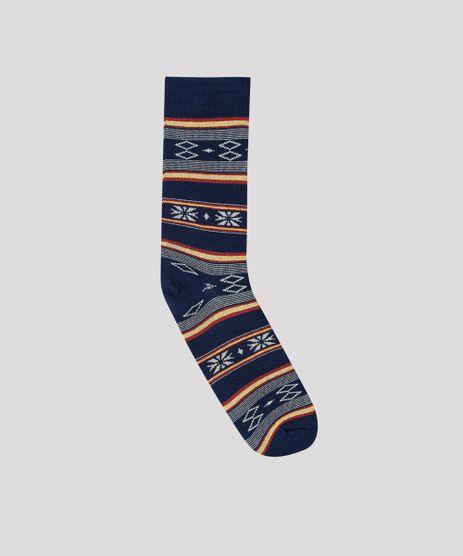 Meia-Masculina-Cano-Alto-Estampada-Etnica-Azul-Marinho-9636363-Azul_Marinho_1