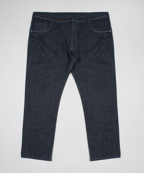 Calca-Jeans-Masculina-Plus-Size-Reta-com-Bolsos-Azul-Escuro-9693979-Azul_Escuro_1