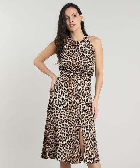 Vestido-Feminino-Midi-Halter-Neck-Estampado-Animal-Print-Bege-9560606-Bege_1