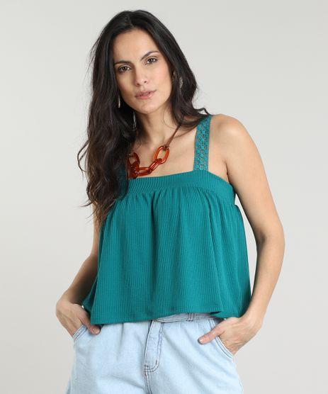 Regata-Feminina-Cropped-Canelada-Alcas-Largas-em-Renda-Decote-Reto-Verde-Escuro-9613382-Verde_Escuro_1