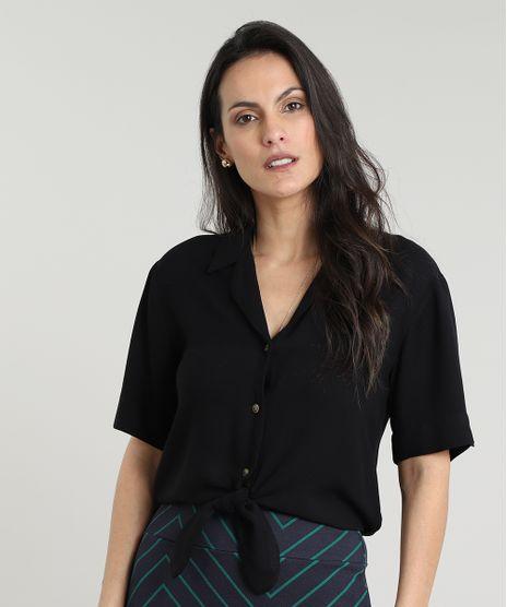 Camisa-Feminina-Cropped-com-No-Manga-Curta-Preta-9608120-Preto_1