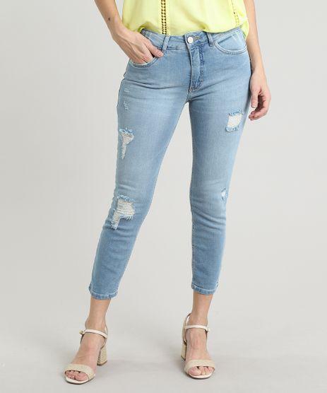 Calca-Jeans-Feminina-Skinny-Cropped-com-Rasgos-e-Puidos-Azul-Medio-9670256-Azul_Medio_1