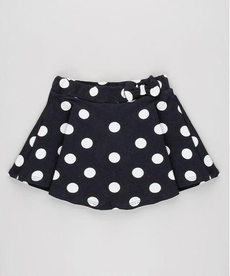 Short-Saia-Infantil-Estampado-de-Poa-Com-Laco-Preto-9631453-Preto_1