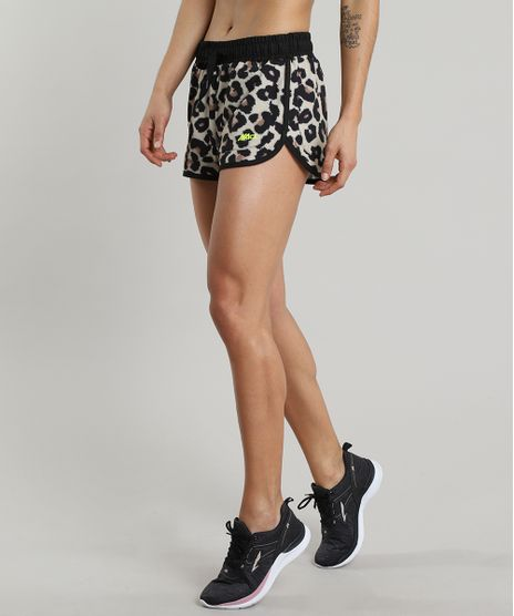 Short-Feminino-Running-Esportivo-Ace-Estampado-Animal-Print-Bege-9601116-Bege_1