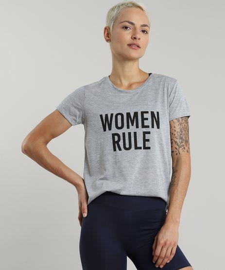 Blusa-Feminina-Esportiva-Ace--Women-Rule--Manga-Curta-Decote-Redondo-Cinza-Mescla-9606557-Cinza_Mescla_1