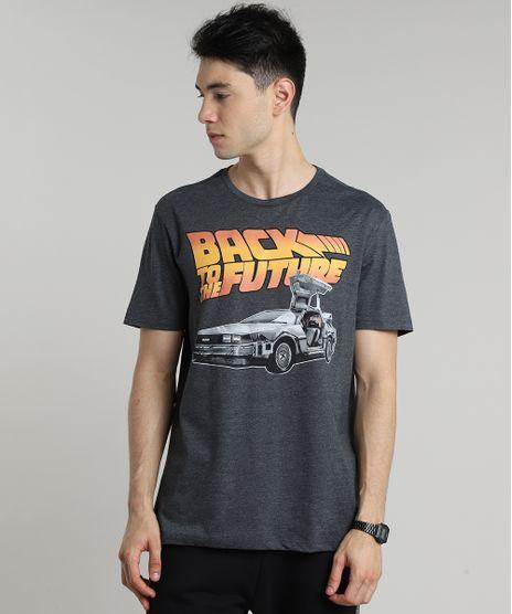 Camiseta-Masculina-De-Volta-para-o-Futuro-Manga-Curta-Gola-Careca-Cinza-Mescla-Escuro-9687490-Cinza_Mescla_Escuro_1