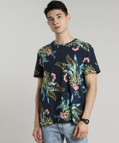 Camiseta-Masculina-Tal-Pai-Tal-Filho-Estampada-Floral-Manga-Curta-Gola-Careca-Azul-Marinho-9597451-Azul_Marinho_1