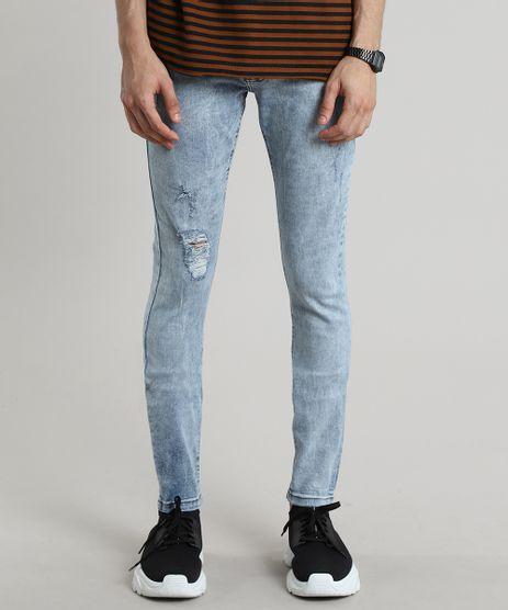Calca-Jeans-Masculina-Skinny-Com-Rasgos-Azul-Claro-9600055-Azul_Claro_1